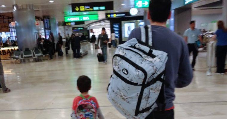 Viajar en familia con equipaje de mano