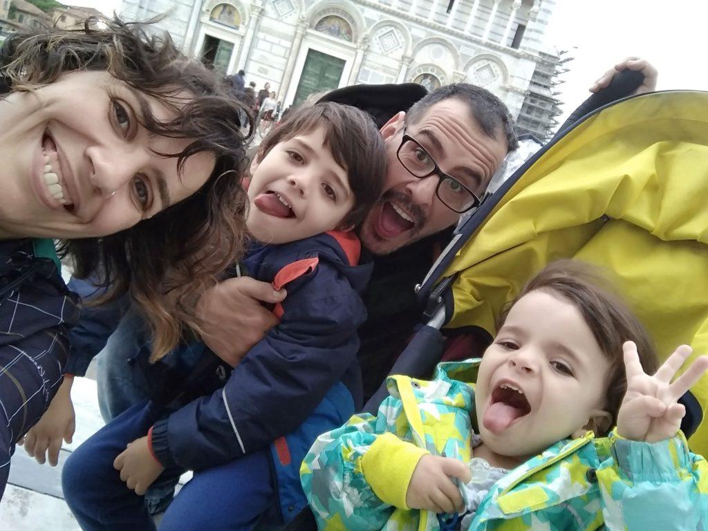 Foto de la familia en Pisa