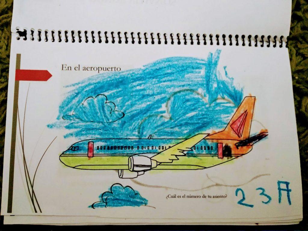 dibujo de avión y en qué asiento estás