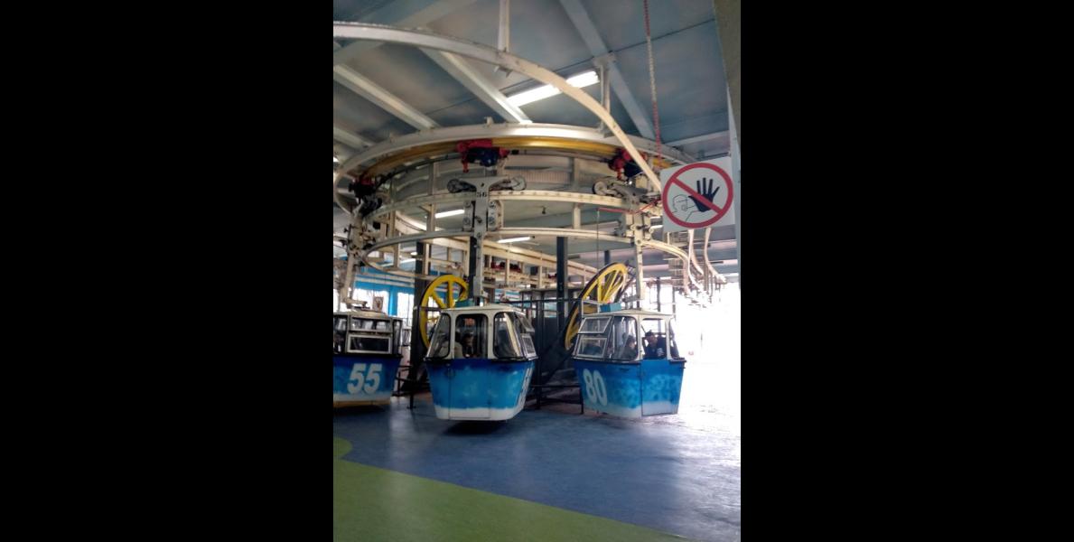Mecanismos del telesférico, poleas grandes