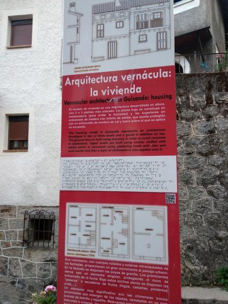 cartel en braille guisando