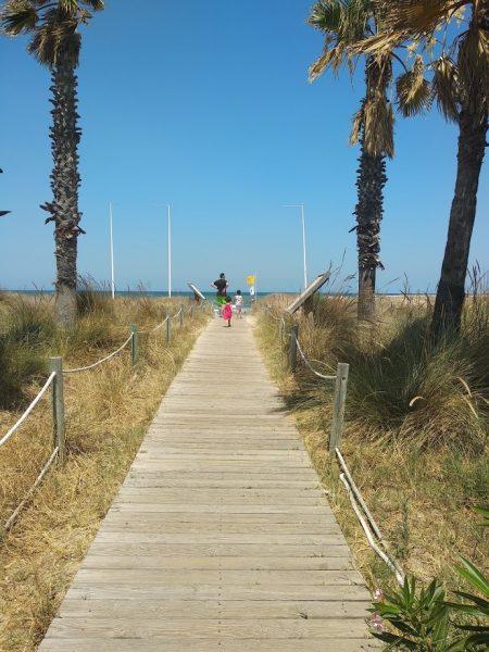 La pasarela a la playa
