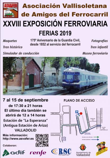 cartel exposición ferroviaria asvafer