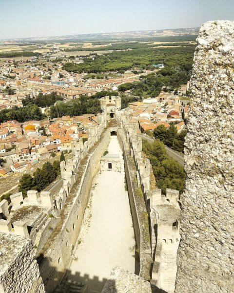 Castillo de Peñafiel, vista de la panorámica del pueblo