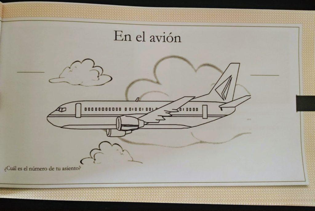 dibujo para colorear de un avión