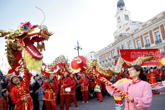 Celebrar el año nuevo Chino en Madrid