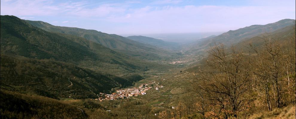 Imagen del valle en que se encuentra puerto castilla