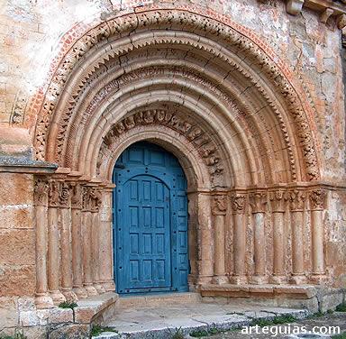 Puerta románica de la iglesia de Escalada, Burgos