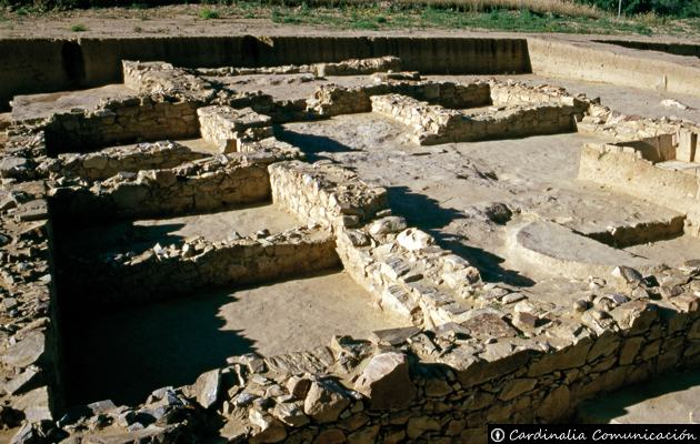 Restos arqueológicos de los cimientos de edificaciones