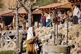 imagen del pozo y el pueblo del belén