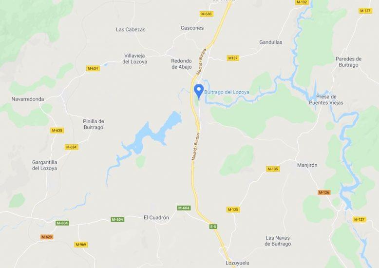 Mapa localización Buitrago del Lozoya