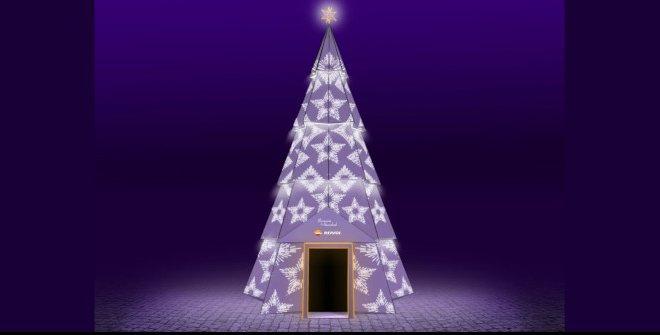 árbol de navidad luminoso