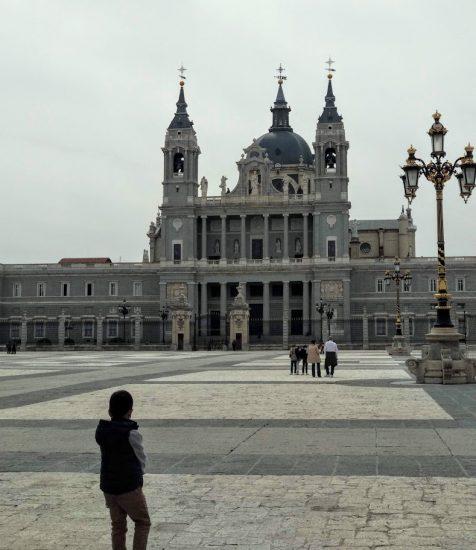 catedral de la Almudean vista desde el palacio real
