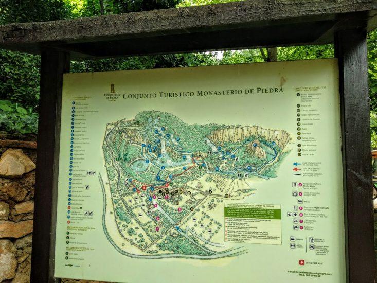 monasterio de piedra cartel informativo